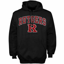 Rutgers Scarlet Knights Black Arch Over Logo Hoodie - College