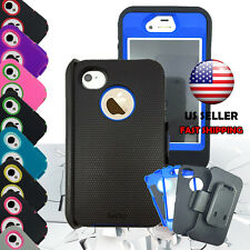 Hybrid Rugged Protective Shockproof Hard Case Cover For Apple iPhone 4 / 4s