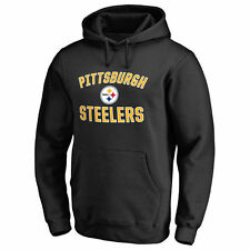 NFL Pro Line Pittsburgh Steelers Black Victory Arch Pullover Hoodie - NFL
