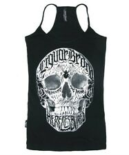 Liquorbrand Live Fast Die Young Top Gothic Alternative Skull Singlet Punk Tank