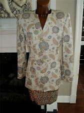 VTG.70s-80s ALBERT NIPON COUTURE 2 PC.SKIRT SUIT BROCADE/SEQUINS SIZE 4 A BEAUTY