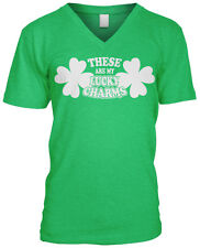 These Are My Lucky Charms St Patricks Day Funny Pun Joke Humor Mens V-neck