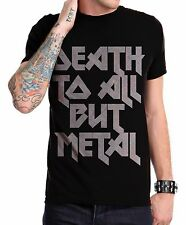 DEATH TO ALL BUT METAL Steel Panther Slogan Men Black Cotton T Shirt S - XXL