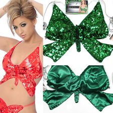 Sexy Clubwear Rave Gogo Sequin Butterfly Dancer Top Open Criss Cross Glam Outfit