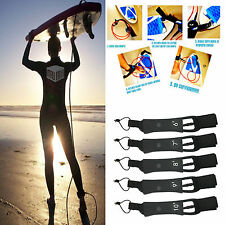 6' - 10' Surfboard Leash Leg Rope 7mm Legrope Double Stainless Steel Swivels +
