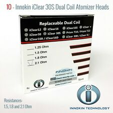 10 - iClear 30S Dual Coils 1.5/1.8/2.1 Ohm, 100% Genuine US Seller/Same Day Ship