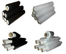Pallet Stretch Shrink Wrap Extended Flush Core Clear / Black 400mm x 150m approx