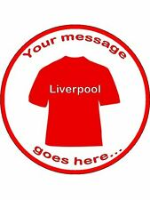 "Liverpool Inspired Edible Topper Wafer or Icing 7 1/2"" round cake topper"