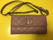 MARC JACOBS Quilting Single Leather Crossbody Bag Wallet Clutch $495