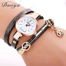 NEW Women Bracelet Gold Quartz Gift Wristwatch Dress Leather Casual Fashion Ne