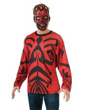Star Wars Darth Maul Adult's Costume Long Sleeve T-Shirt & Mask