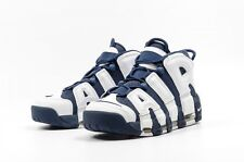 2016 Nike Air More Uptempo Blue White Olympic 414962-104 Pippen Bulls Size 4Y-14