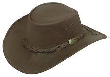 Jacaru water repellent Buffalo  Leather hat  Australian made Brown