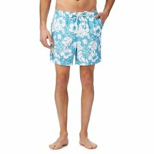 Maine New England Mens Turquoise Floral Print Swim Shorts From Debenhams