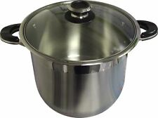 Ballington Stainless Steel Stock Pots with Glass Lids - Various Sizes