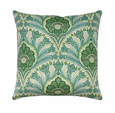 Green Blue Taupe Outdoor Throw Pillow, Tommy Bahama Crescent Beach Jungle Pillow