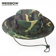 REEBOW Tactical Boonie Hat Military Men Women Outdoor Travel Camouflage Bucket