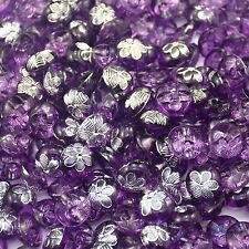 10/50/200pcs Purple Flower Round Plastic Buttons Lot 12MM Craft Sewing DIY