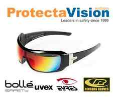 Eyres Daredevil Safety Glasses Sunglasses Flash Silver / Red Mirror / Polarised