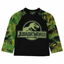 Boys Character Long Sleeve T-Shirt Jurassic World New With Tags