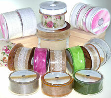 NEW Eleganza Country Hessian Ribbon Lace Ribbon HUGE DISCOUNT !!!!