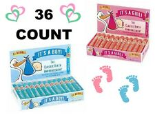 💗 It's A Boy Girl Bubble Gum Cigars 36ct Box Bulk Candy Baby Birth Announcement