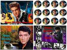 EDIBLE IMAGE ELVIS PRESLEY ICING SHEET CAKE IMAGE PARTY TOPPER
