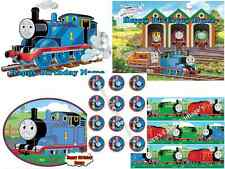 EDIBLE CAKE IMAGE THOMAS TRAIN ICING SHEET PARTY TOPPER or CUPCAKES