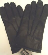 Mens Park Ave. Thinsulate Genuine Leather Gloves,Black, Style 789C