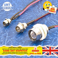 12V Pre-Wired LEDs 3mm/5mm/10mm Red/Blue/Green/White/Yellow 9V With Metal Caps