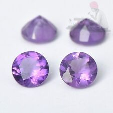 2mm to 10mm Natural Amethyst Round Facetetd Loose Gemstone Lot Free Shipping