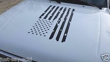 Distressed American Flag Vinyl Decal Fits Jeep Dodge Ford Chevy - Select Color