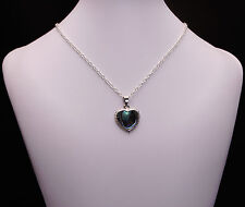 Abalone Pearl Heart Pendant Necklace