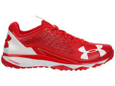 NEW MENS UNDER ARMOUR DECEPTION TRAINER RUNNING SHOES TRAINERS RED / WHITE