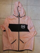 VICTORIAS SECRET PINK NEW ANORAK ZIP WINDBREAKER POCKETS HOODIE SOLD OUT NWT