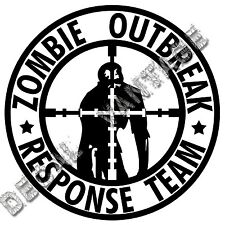 Zombie Outbreak Response Team Crosshairs Vinyl Sticker Decal Choose Size & Color