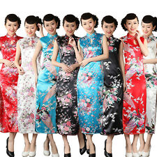 NEW Style Chinese Traditional Women Long Evening Wedding Dress Qipao Cheongsam !