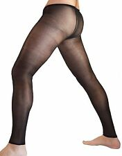 Sheer Tights with Opening for Male Anatomy pantyhose tights nylons sexy mens