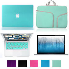 """4in1 Rubberized Case for Macbook Air Pro Retina 11 13 15""""+Keyboard Cover+LCD+Bag"""