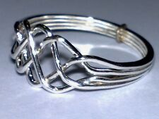 "Sterling Silver 925  ""PUZZLE RING""  Ladies"