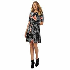 The Collection Petite Womens Black Floral Print Dress From Debenhams