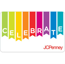 JCPenney Gift Card Celebrate Banner $25 $50 or $100 - Fast Email delivery
