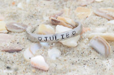 Name Rings -Stainless Steel-Engraved with your Names 3mm stackable-discounted