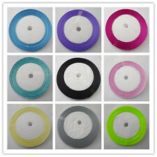 Free Shipping pretty 50 Yards 1/4(6mm)Satin Ribbon Wedding Party Supply