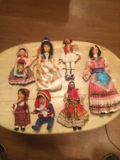 Vintage Lot Of 7 Old Dolls From Different Countries
