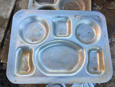 13 Vintage Stainless Steel Metal Military Mess Food Tray USN ww2 wwii silco