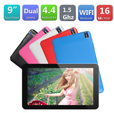"""9"""" Android4.4 KitKat A33 Quad Core 512+ 8GB Dual Camera Tablet PC AU Red"""