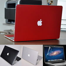 Carbon Fiber 3D Skin Sticker Cover Protector for Apple MacBook Pro Air 13 15 17