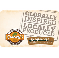 Sammy's Woodfired Pizza & Grill Gift Card - $25 $50 or $100 - Email delivery