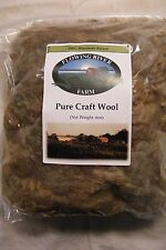 6oz BROWN Craft Sheep Wool - Great for Spinning - Straight from the Farm!